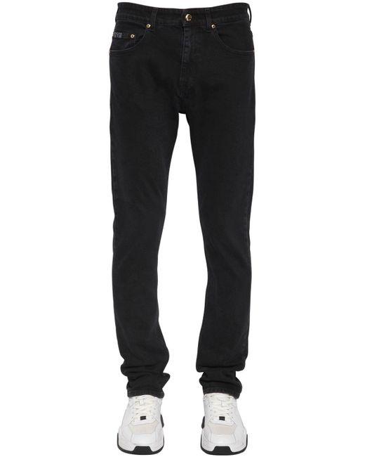 メンズ Versace Jeans スキニーストレッチデニムジーンズ Black