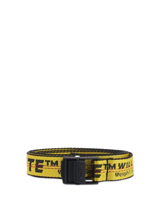 Ремень Из Нейлона С Логотипом 25мм Off-White c/o Virgil Abloh, цвет: Yellow