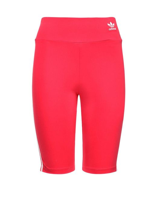 Adidas Originals ハイウエストハーフパンツ Pink