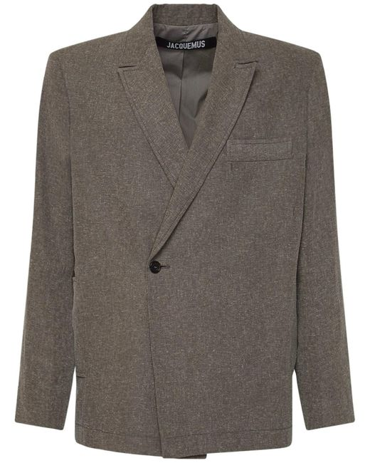 メンズ Jacquemus Le Novi リネン&ビスコースジャケット Gray