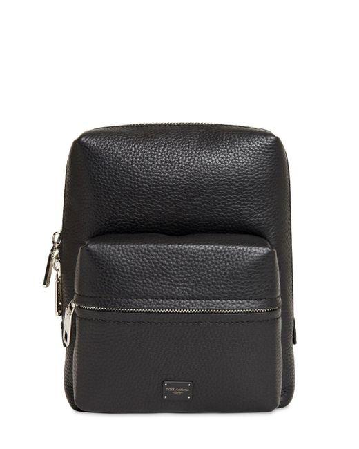 Кожаный Рюкзак Dolce & Gabbana для него, цвет: Black
