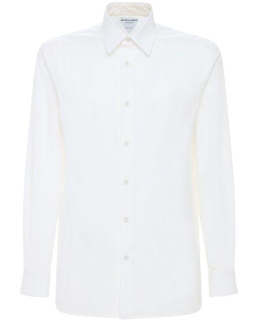 メンズ Bottega Veneta コットンポプリンシャツ White
