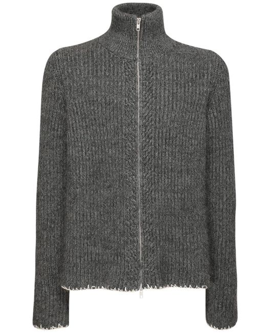 メンズ Maison Margiela ウールブレンドジップセーター Gray