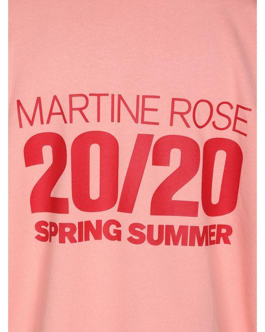 メンズ Martine Rose コットンジャージーフーディ Pink