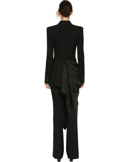 Пиджак Из Шерсти И Шелка Alexander McQueen, цвет: Black