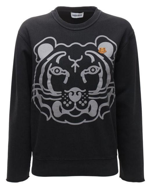KENZO K-tiger Classic コットンスウェットシャツ Black