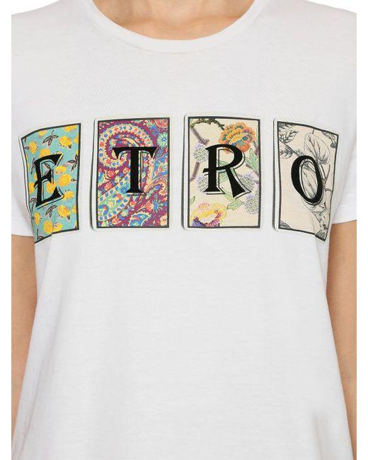 Etro コットンジャージーtシャツ Multicolor