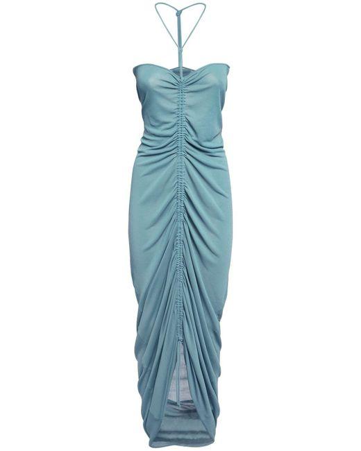 Bottega Veneta ビスコースニットドレス Blue