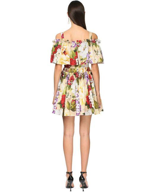 Dolce & Gabbana ポプリンミニドレス Multicolor