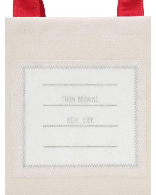 Thom Browne コットンキャンバストートバッグ Multicolor