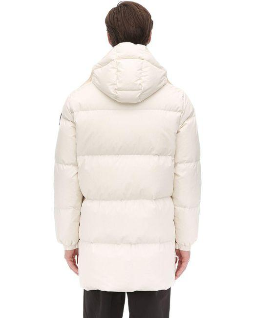 vasta selezione di c2ebb f2d1f Men's White Canada Hooded Cotton Parka