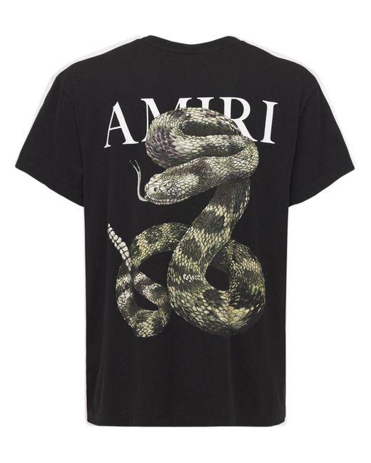 メンズ Amiri Snake ジャージーtシャツ Black