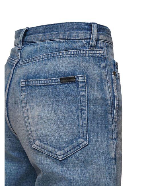 メンズ Saint Laurent コットンデニムジーンズ 20cm Blue