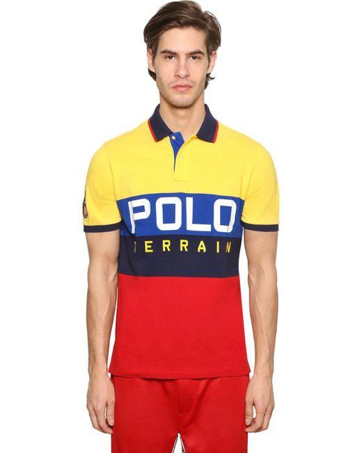 メンズ Polo Ralph Lauren コットンピケポロシャツ Multicolor