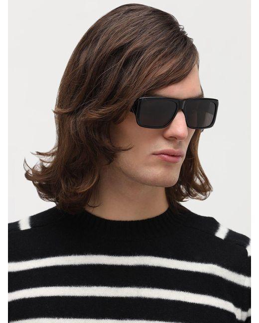Saint Laurent Men's Black Sl 366 Lenny Squared Acetate Sunglasses