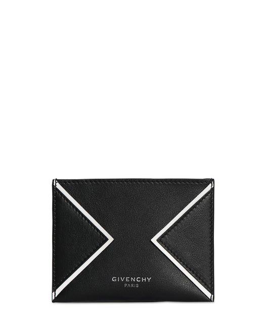 メンズ Givenchy レザーカードホルダー Black