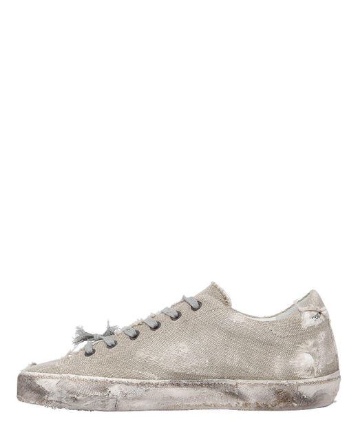 Golden Goose 20MM SUPER STAR LINEN & GLITTER SNEAKERS IDfL74OP