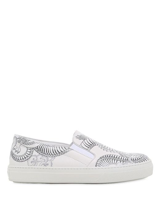 Tod's | White 20mm Double T Tattoo Leather Sneakers | Lyst