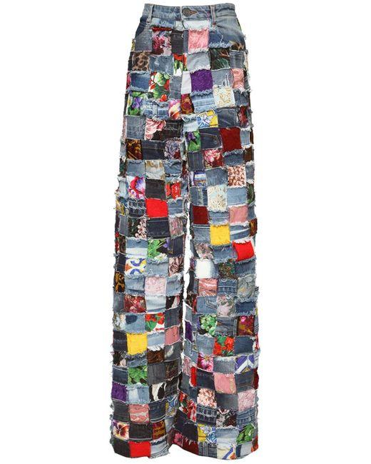 Dolce & Gabbana ジャカード&パッチワークデニムジーンズ Multicolor
