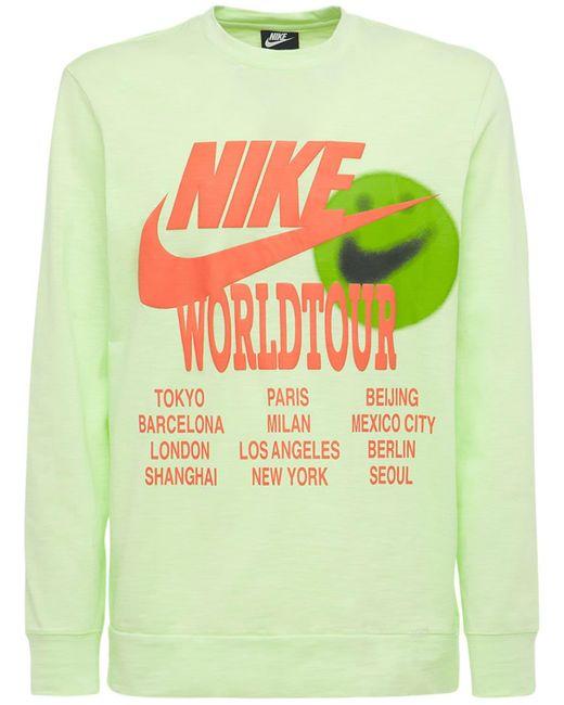 メンズ Nike World Tour Tシャツ Yellow