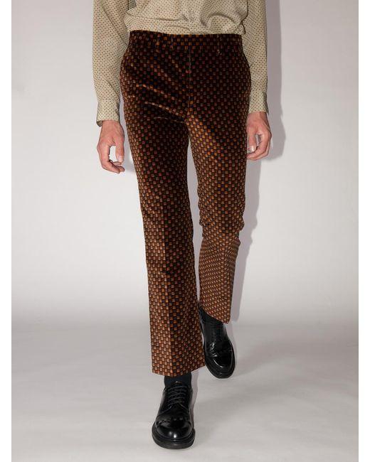 メンズ Gucci Lvr Exclusiveヴェルヴェットパンツ Brown