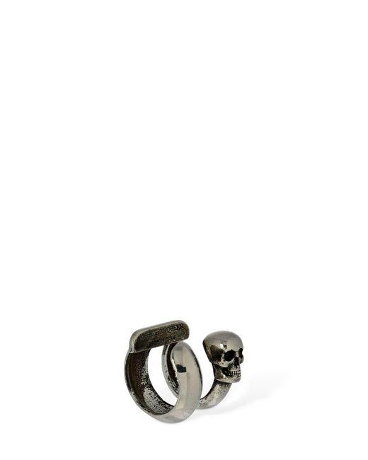 Alexander McQueen Skull シングルイヤーカフ Metallic