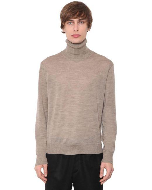 メンズ Undercover ウールニットセーター Natural