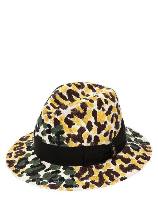 Borsalino Multicolor Quito Hand Painted Medium Panama Hat for men