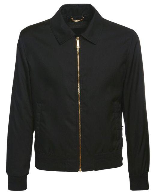 メンズ Versace ナイロンカジュアルジャケット Black