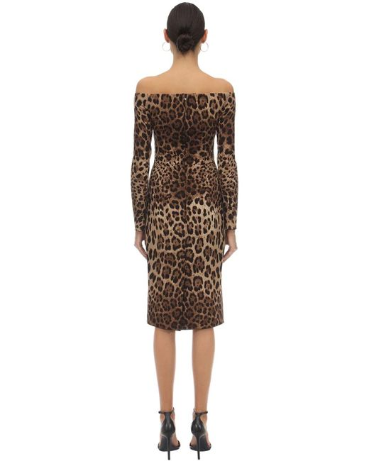Платье Из Крепа Dolce & Gabbana, цвет: Brown