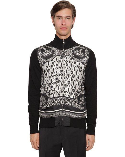 Кардиган Из Шелка И Кашемира Dolce & Gabbana для него, цвет: Black