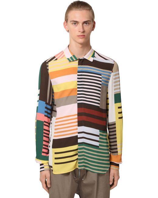 メンズ Rick Owens ビスコースシャツ Multicolor
