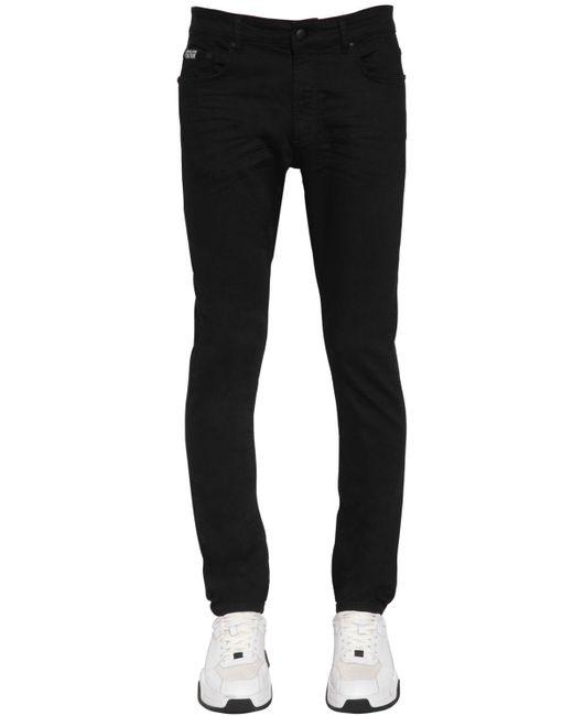 メンズ Versace Jeans コットンデニムジーンズ 16.5cm Black