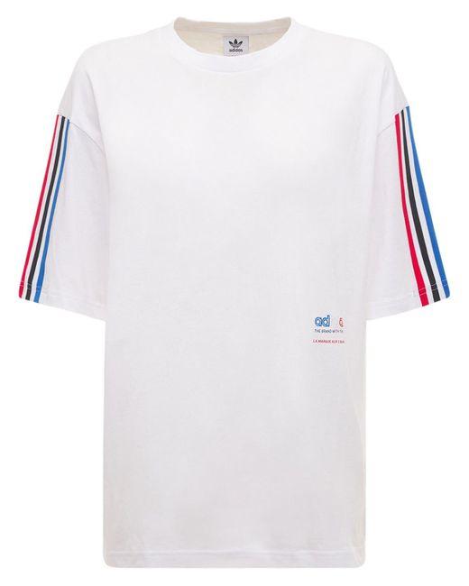 Adidas Originals オーバーサイズtシャツ White