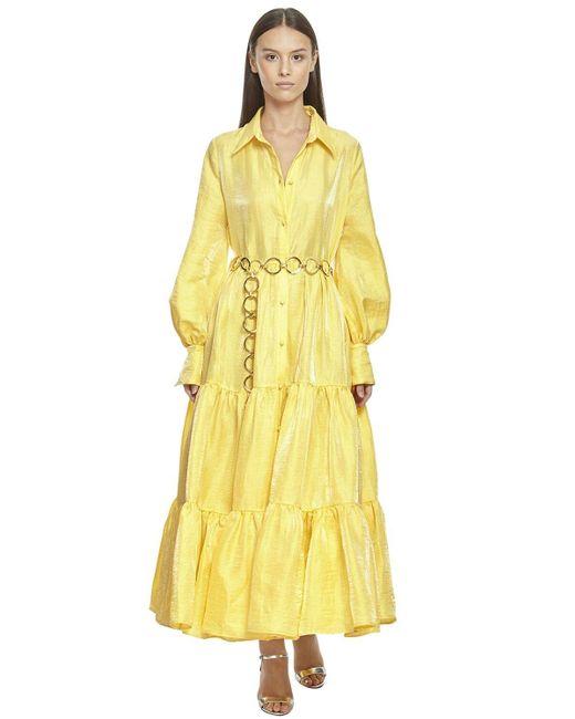 Taller Marmo リネンブレンドシャツドレス Yellow