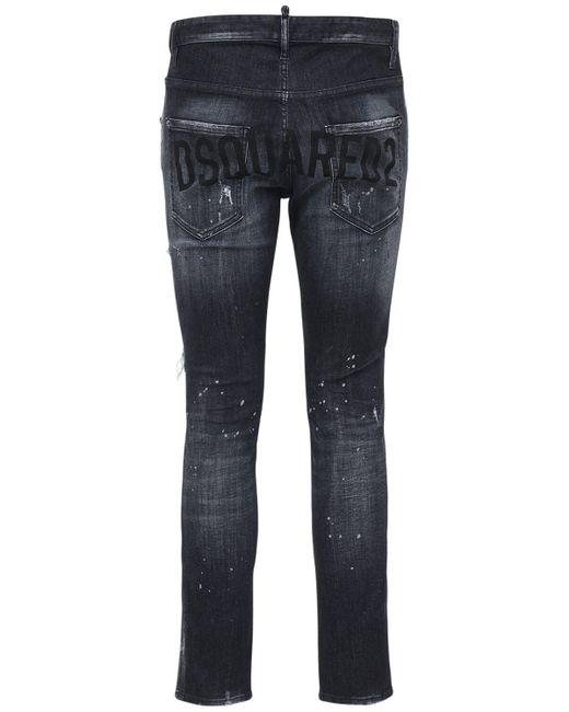 メンズ DSquared² Skater ストレッチデニムジーンズ 16.5cm Black