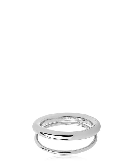 Maria Black | Metallic Offset V Ring | Lyst