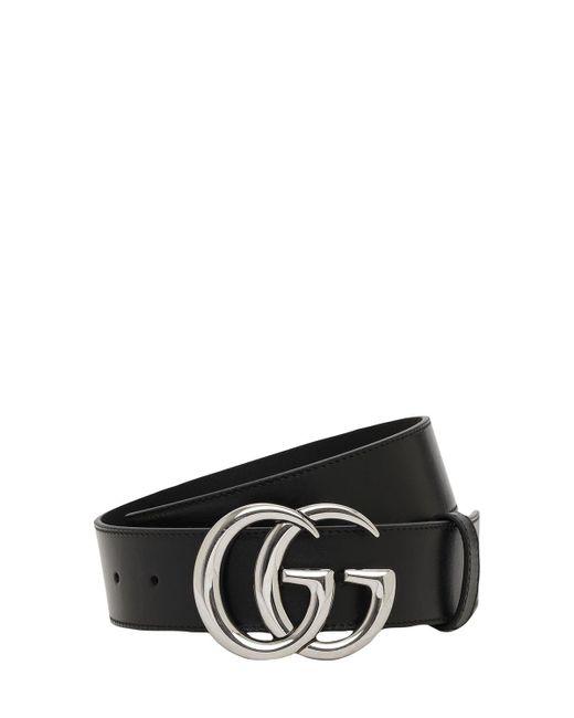 """Кожаный Ремень """"gg Marmont"""" 4cm Gucci, цвет: Black"""