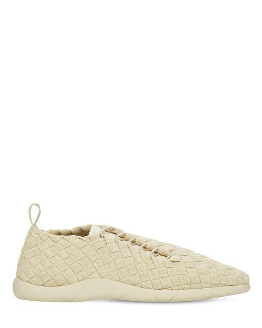 Bottega Veneta Natural Intrecciato Tech Low Top Sneakers for men