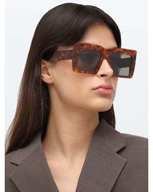 Gafas De Sol De Acetato Cuadrada Loewe de color Brown