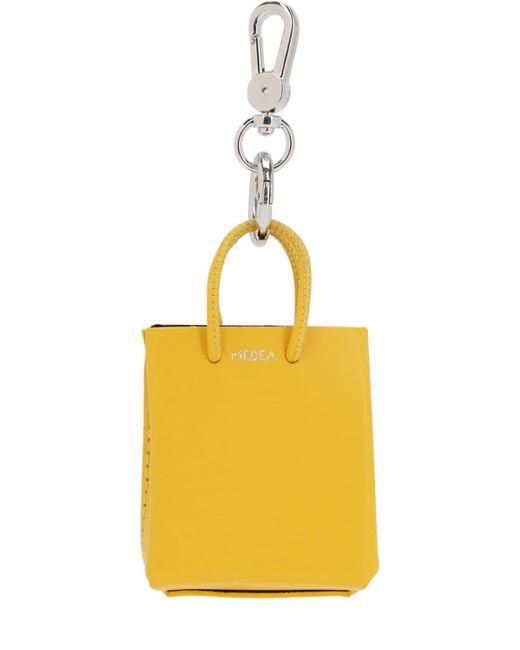 MEDEA ミニ レザーバッグキーホルダー Yellow