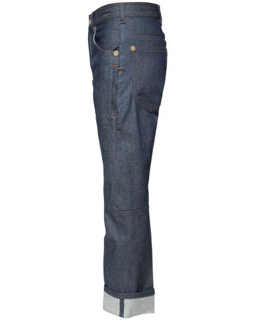 メンズ Neil Barrett コットンデニムジーンズ 20cm Blue