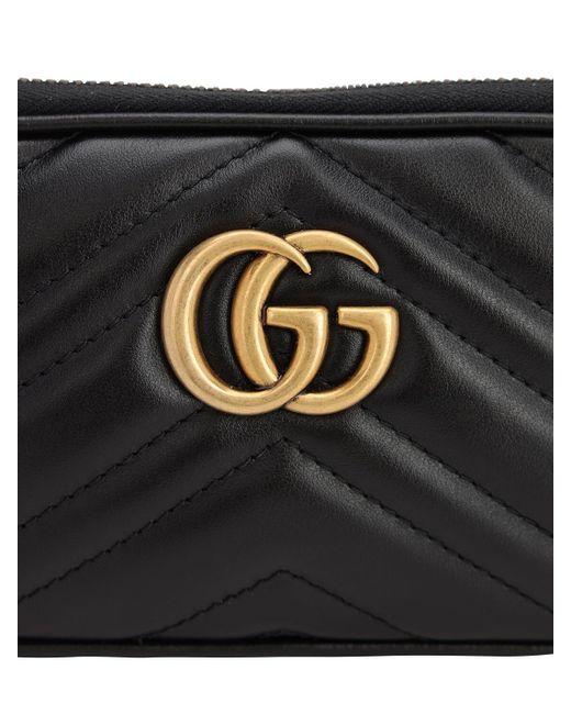 """Borsa """"Gg Marmont 2.0"""" In Pelle di Gucci in Black"""