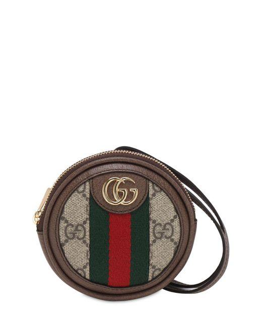 Монетница Ophidia Gg Supreme Gucci, цвет: Brown