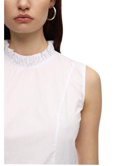 BATSHEVA Praire コットンドレス White