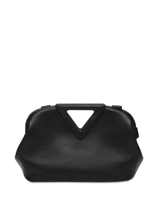 Сумка Из Кожи Triangle Bottega Veneta, цвет: Black