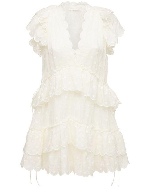Мини-платье Из Шифона Zimmermann, цвет: White