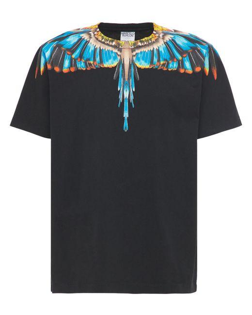 メンズ Marcelo Burlon Grizzly Wings ジャージーtシャツ Black