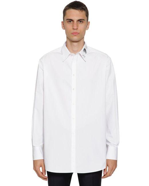 メンズ Valentino コットンシャツ White