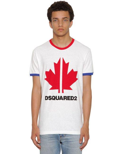 メンズ DSquared² Very Very Dan Fitジャージーtシャツ White